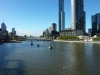 More view of the Yarra river, from the Melbourne Aquarium.