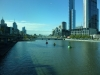 View of the Yarra river, from the Melbourne Aquarium.